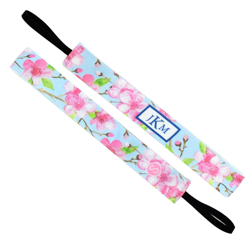 Monogram | Cherry Blossom Season | Light Blue, Pink | 1 Inch Sweaty Bands
