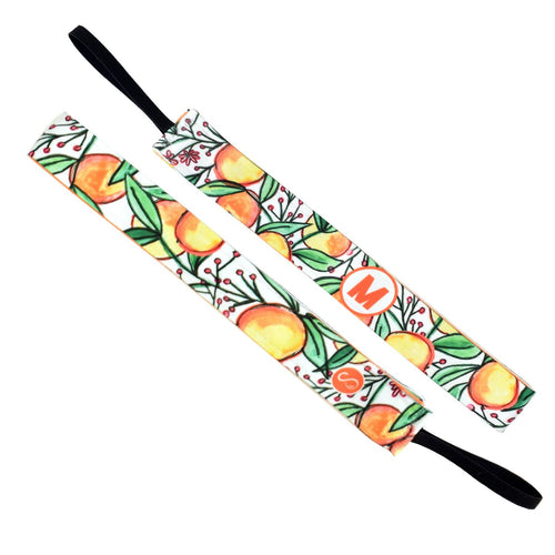 Monogram Life is Fruitful Initial Orange Sweaty Bands Non Slip Headband