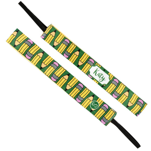 Monogram Pencil Pusher Name Sweaty Bands Non Slip Headband