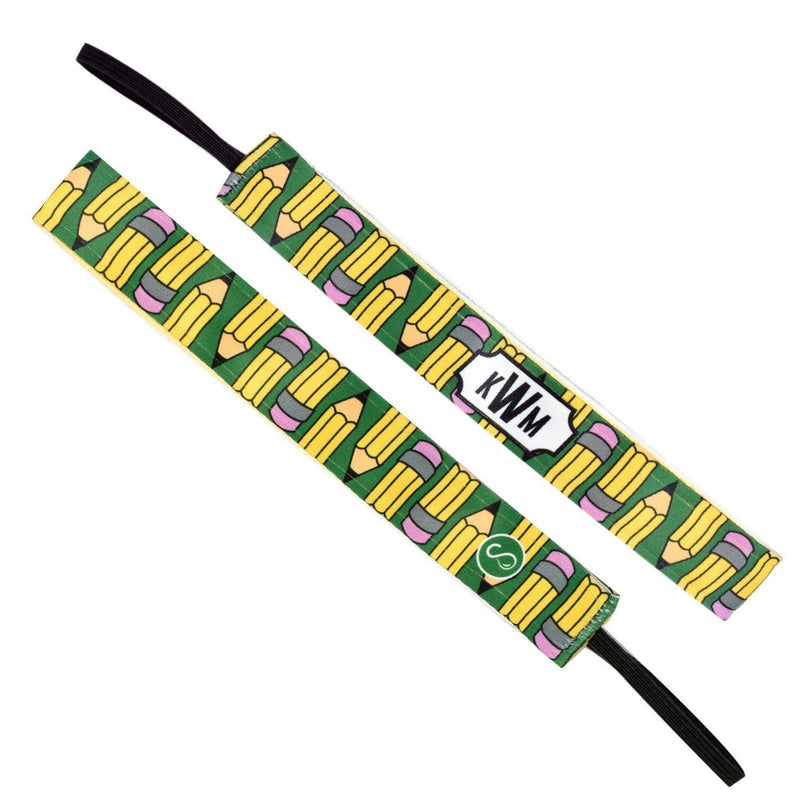 Monogram Pencil Pusher Yellow Sweaty Bands Non Slip Headband