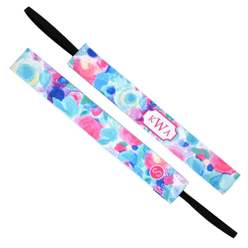 Monogram Spring Garden Multi Sweaty Bands Non Slip Headband