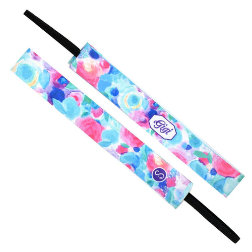Monogram Spring Garden Name Sweaty Bands Non Slip Headband