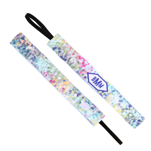 Monogram Truth Pink Sweaty Bands Non Slip Headband