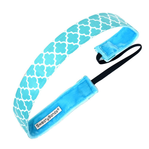 Moroccan My World Teal Sweaty Bands Non Slip Headband