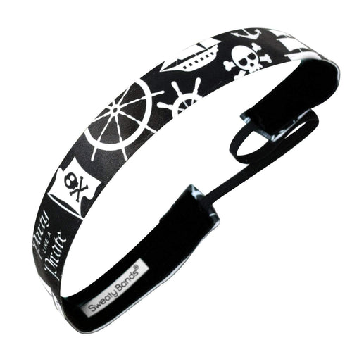 Party Like a Pirate | Black | 1 Inch Sweaty Bands