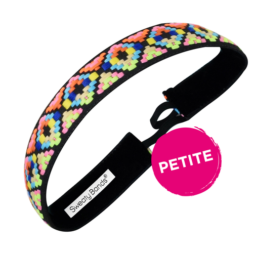 Petite | Alpaca Punch | Neon, Black | 1 Inch Sweaty Bands