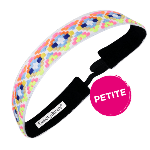 Petite | Alpaca Punch | Neon, White | 1 Inch Sweaty Bands