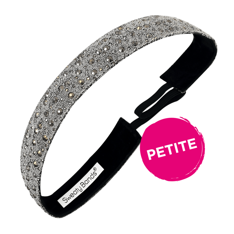 Petite | Bling It | Date Night | Charcoal | 7/8 Inch Sweaty Bands