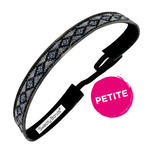 Petite | Bling It | Diamond Goals | Black, Iridescent | 5/8 Inch Sweaty Bands