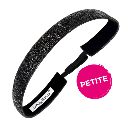 Petite | Bling It | Fifth Avenue | Black | 7/8 Inch Sweaty Bands