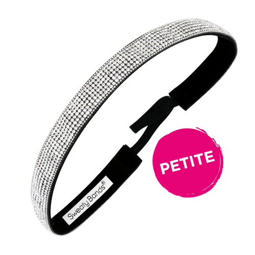 Petite | Bling It | Girls Best Friend | Silver | 5/8 Inch Sweaty Bands