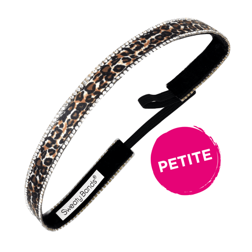 Petite | Bling It | Leopard | Black, Brown | 5/8 Inch Sweaty Bands