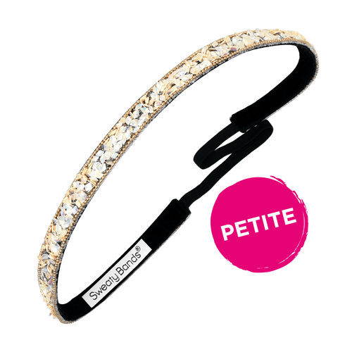 Petite | Bling It | Less Bitter, More Glitter | Champagne | 3/8 Inch Sweaty Bands