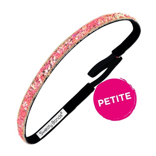 Petite | Bling It | Less Bitter, More Glitter | Pink | 3/8 Inch Sweaty Bands