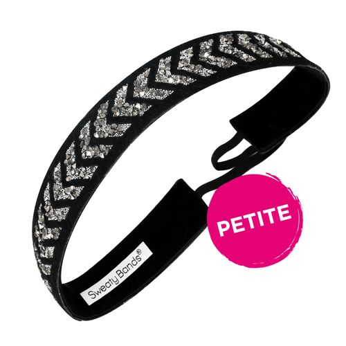 Petite | Bling It | Walk This Way | Black, Silver | 1 Inch Sweaty Bands
