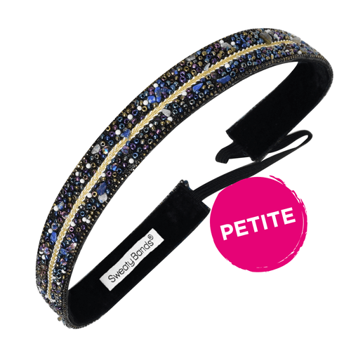 Petite Bling It You Deserve a Crown, Blue Sweaty Bands Non Slip Headband