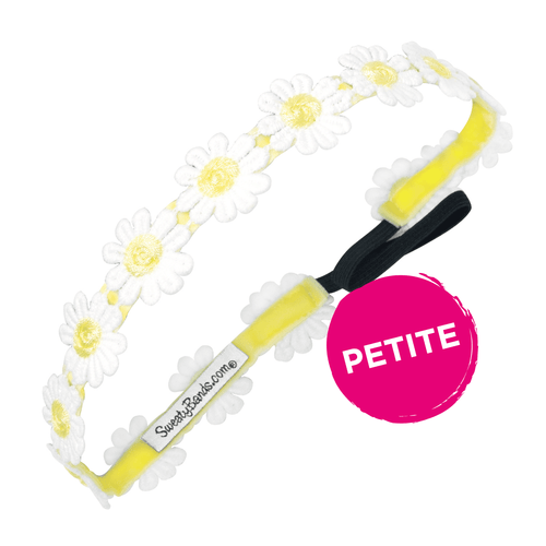 Petite Daisy Chain Yellow Sweaty Bands Non Slip Headband