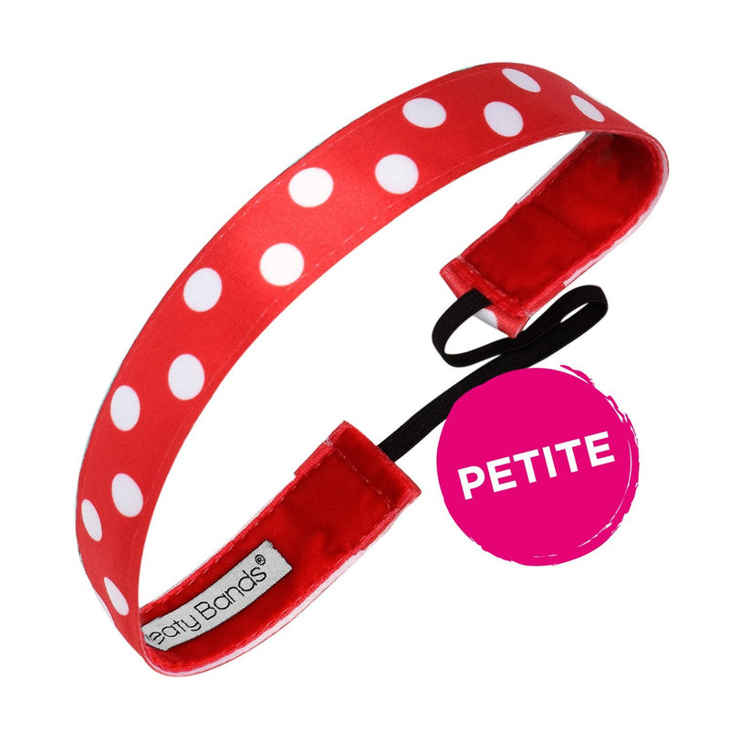 Petite Do the Polka Dots Red, White Sweaty Bands Non Slip Headband
