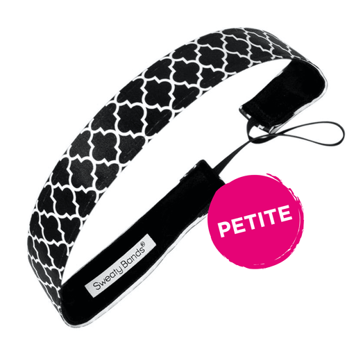 Petite Moroccan My World Black Sweaty Bands Non Slip Headband