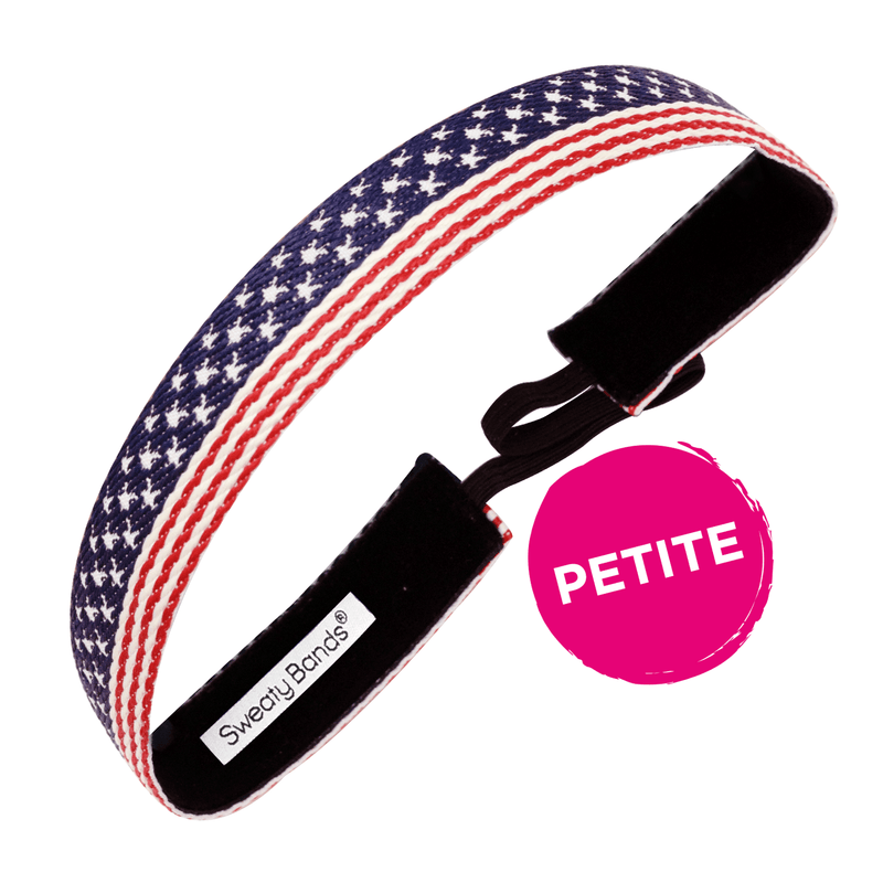 Petite | Old Glory | Red, White, Blue | 1 Inch Sweaty Bands