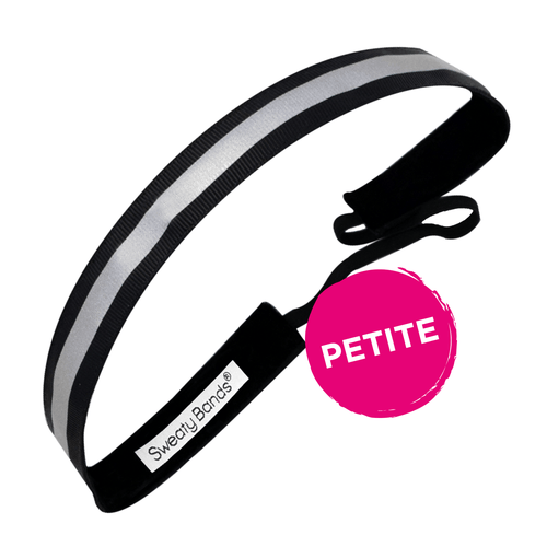 Petite | Reflective Runner | Black, Silver | 5/8 Inch Sweaty Bands
