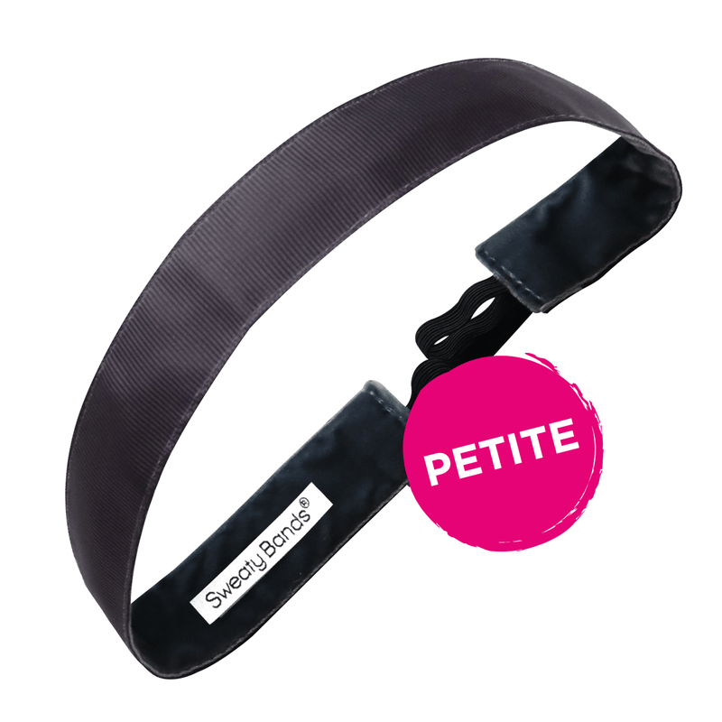 Petite | Rock Solid | Charcoal | 1 Inch Sweaty Bands Non Slip Headband
