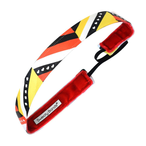Queen of Hearts Yellow, Red Sweaty Bands Non Slip Headband