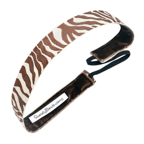 Racing Stripes Brown, Tan Sweaty Bands Non Slip Headband