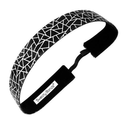 Reach the Apex | Black, White | 1 Inch Sweaty Bands Non Slip Headband