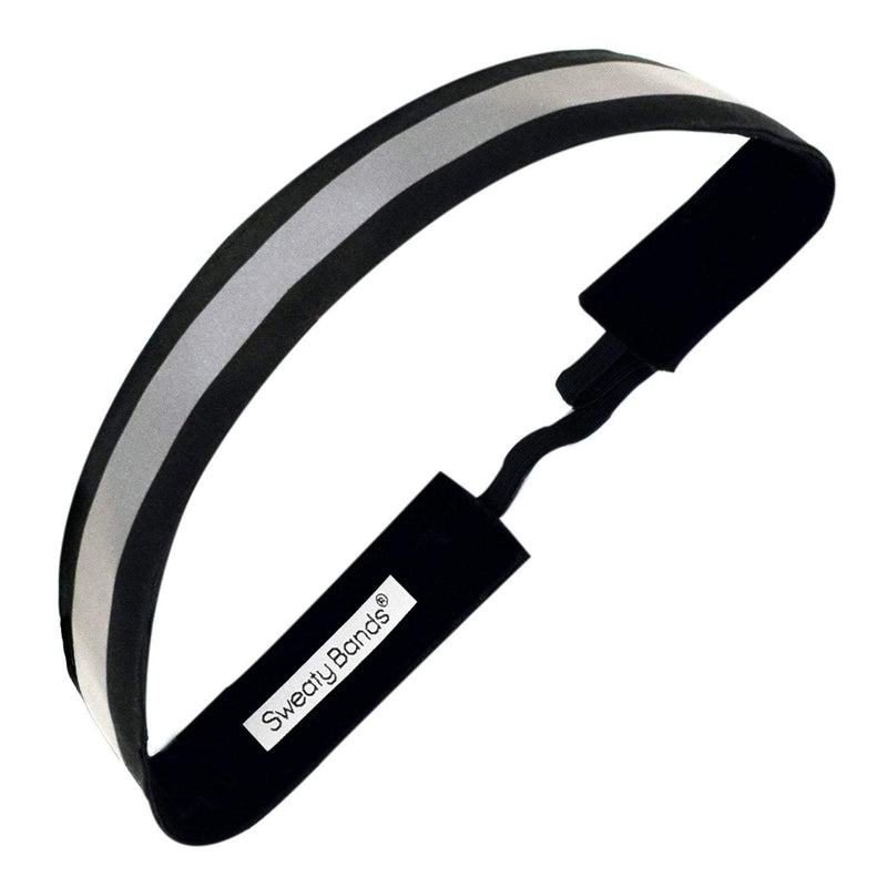 Reflective Runner | Black, Silver | 1 Inch Sweaty Bands