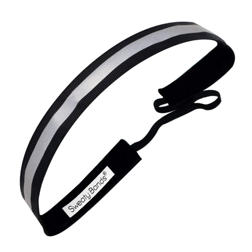 Reflective Runner | Black, Silver | 5/8 Inch Sweaty Bands