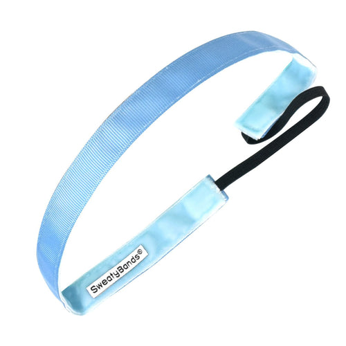 Rock Solid 5/8 inch Antique Blue Sweaty Bands Non Slip Headband