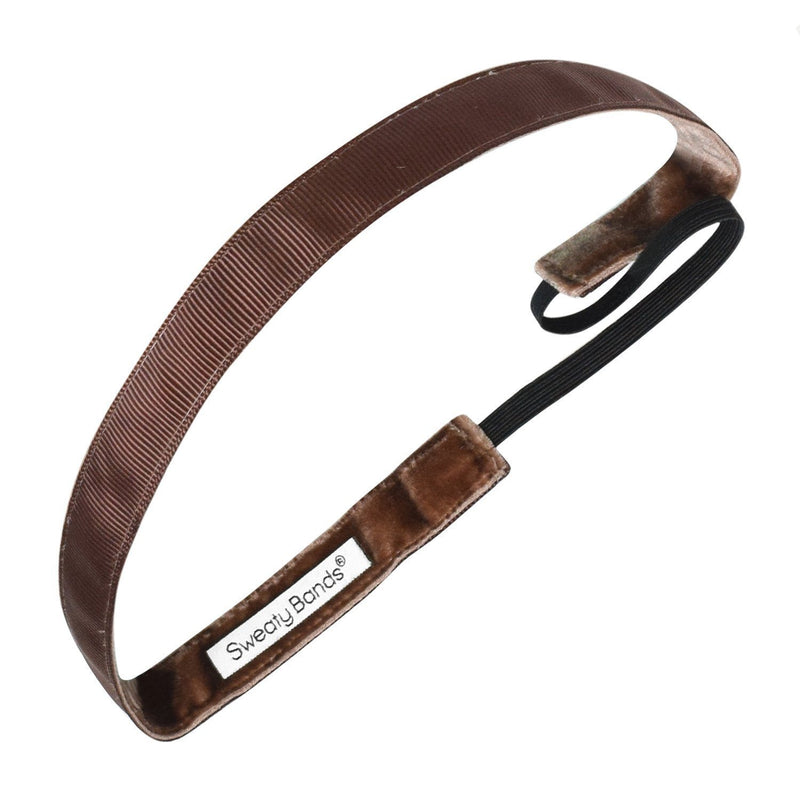 Rock Solid 5/8 inch Brown Sweaty Bands Non Slip Headband