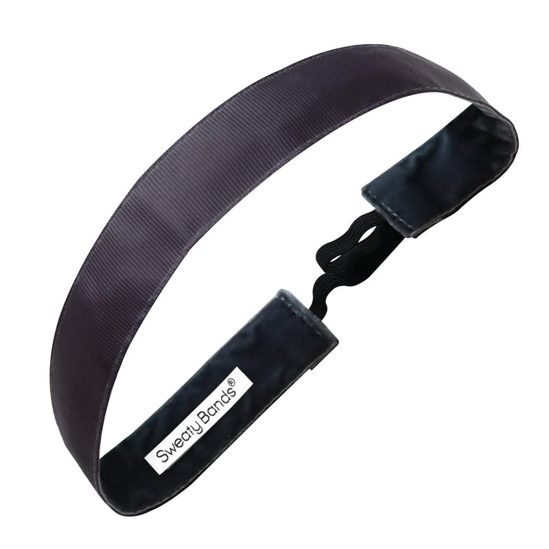 Rock Solid | Charcoal | 1 Inch Sweaty Bands Non Slip Headband