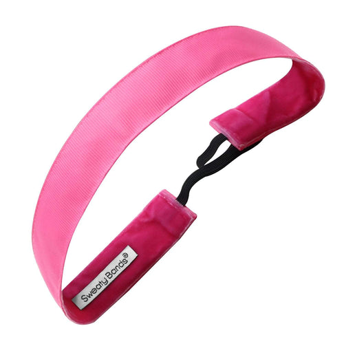 Rock Solid | Pink | 1 Inch Sweaty Bands Non Slip Headband