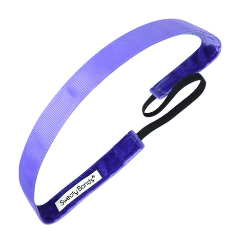Rock Solid 5/8 inch Purple Sweaty Bands Non Slip Headband