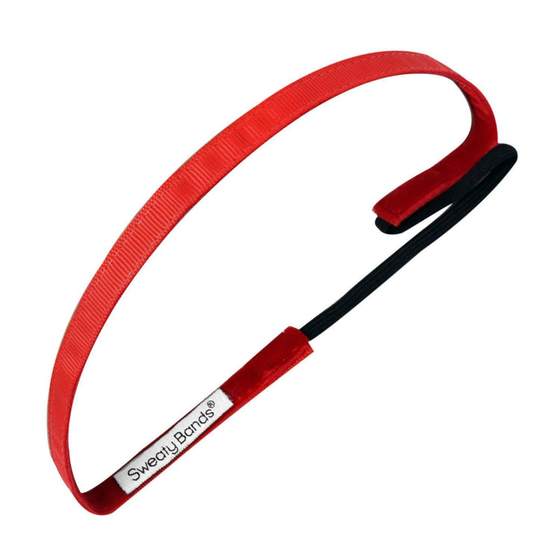 Rock Solid Red Sweaty Bands Non Slip Headband