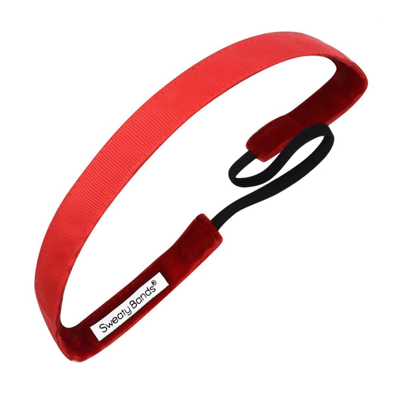 Rock Solid 5/8 inch Red Sweaty Bands Non Slip Headband