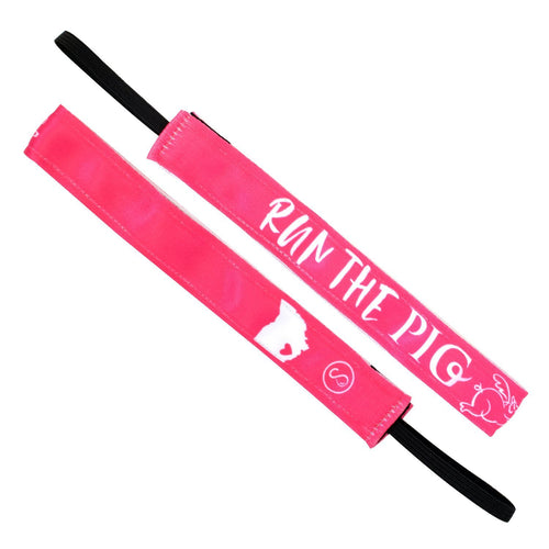 Run The Pig | Hot Pink | 1 Inch Sweaty Bands