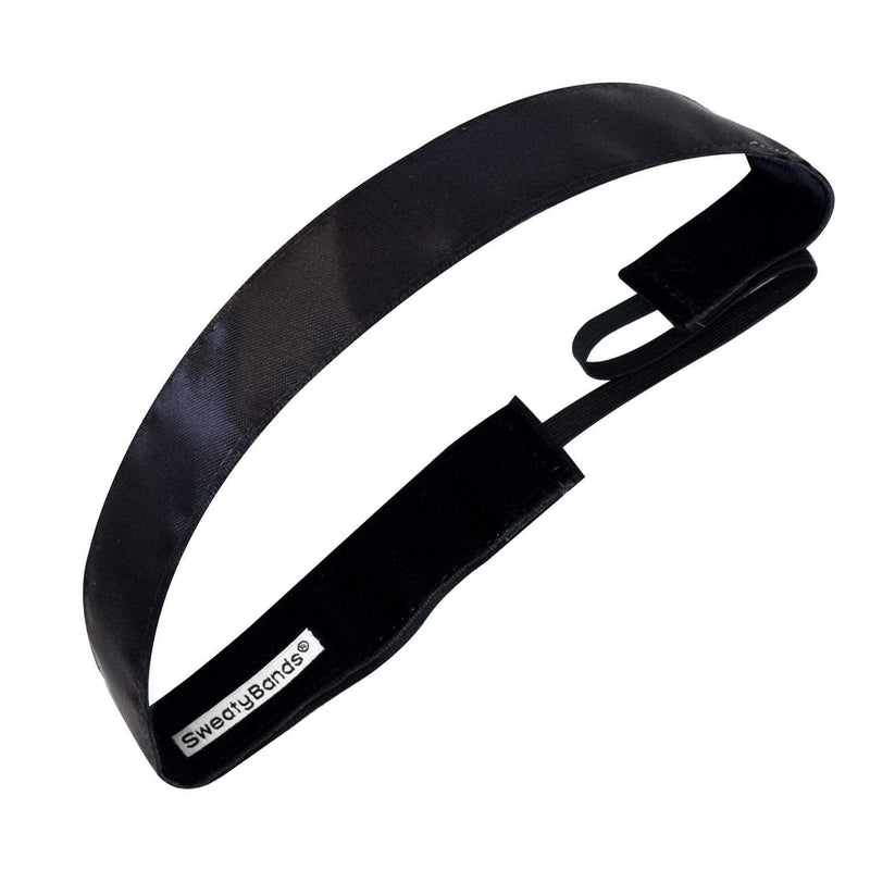 Simply Satin | Black | 1 Inch Sweaty Bands