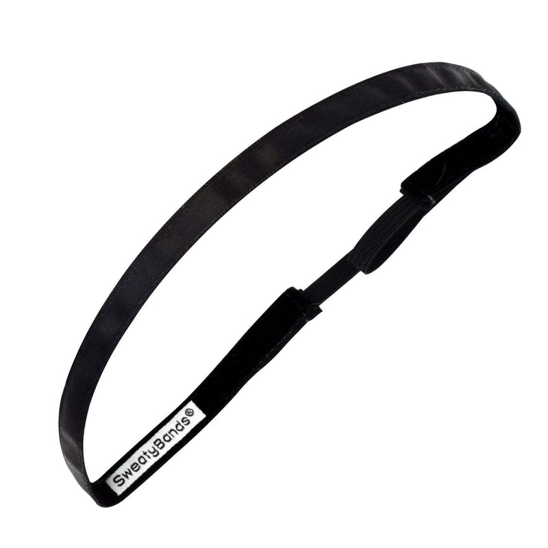 Simply Satin | Black | 3/8 Inch Sweaty Bands