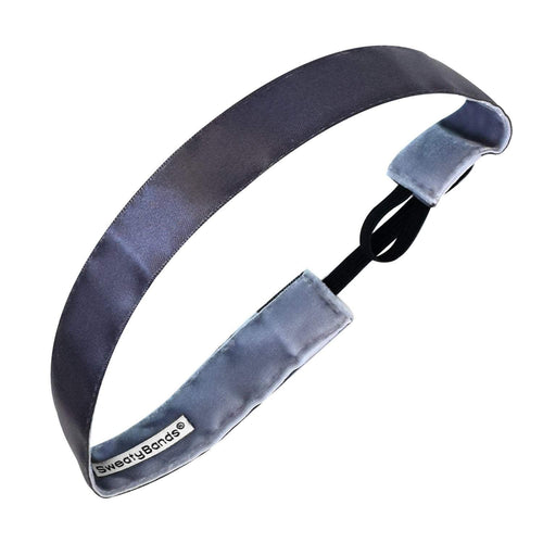Simply Satin | Gunmetal | 1 Inch Sweaty Bands