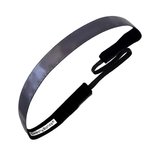 Simply Satin | Gunmetal | 5/8 Inch Sweaty Bands