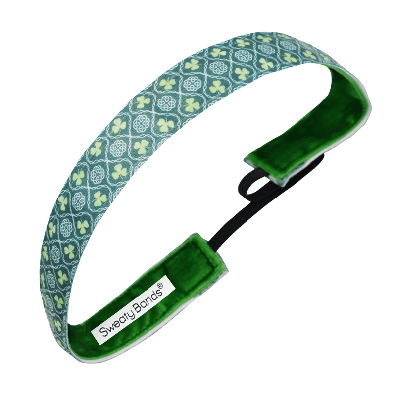 St. Patrick's Day | Erin Go Braugh | Green | 1 Inch Sweaty Bands Non Slip Headband