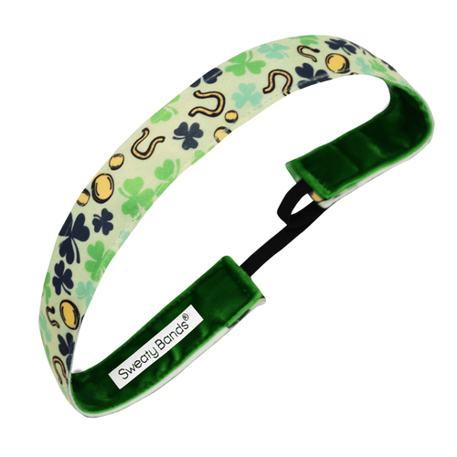 St. Patrick's Day | Irish You Luck | Green | 1 Inch Sweaty Bands Non Slip Headband