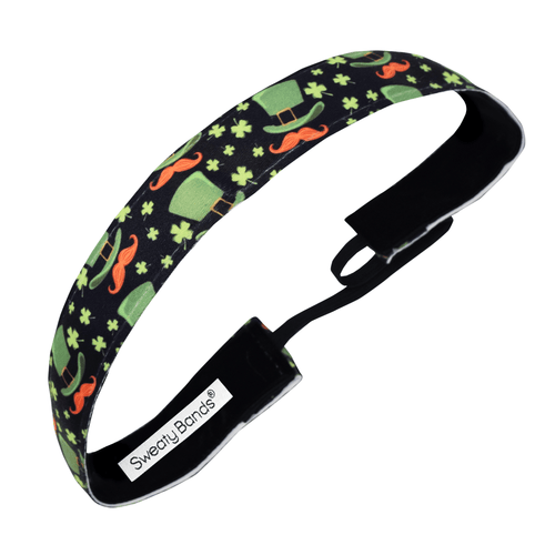 St. Patrick's Day | Pinch Charming | Black, Multi | 1 Inch Sweaty Bands Non Slip Headband