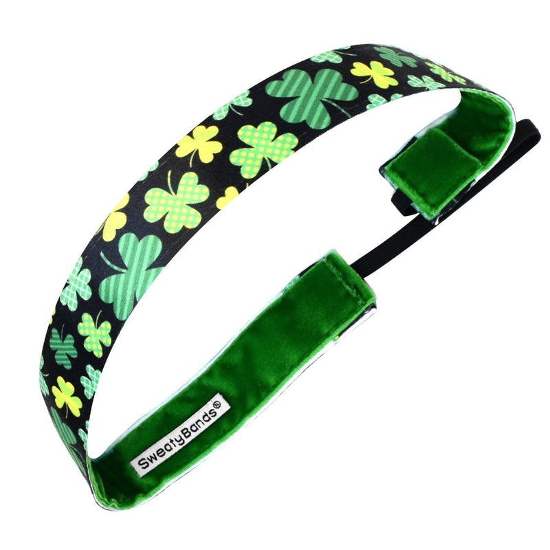 St. Patrick's Day | Shamrocked | Black, Green | 1 Inch Sweaty Bands