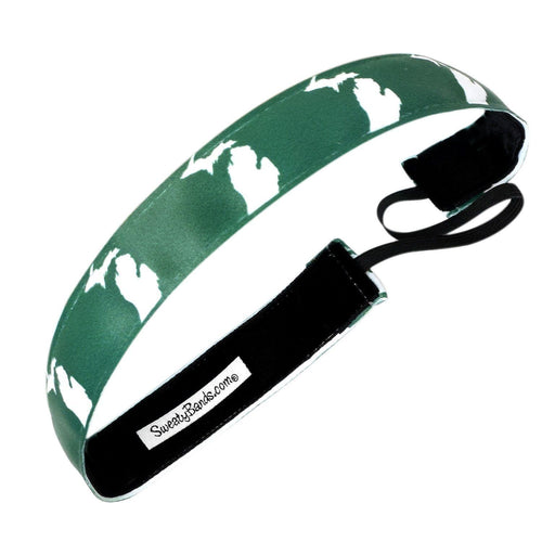 State Pride Michigan Green Sweaty Bands Non Slip Headband