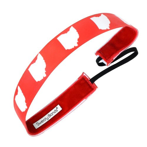 State Pride Ohio Red Sweaty Bands Non Slip Headband