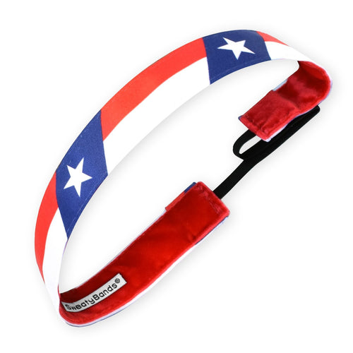 State Pride | Texas Flag | Red, Blue | 1 Inch Sweaty Bands
